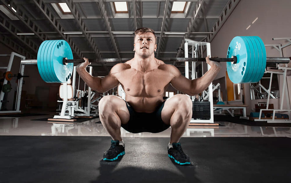 squats with a barbell